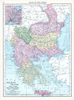 Balkan States, World Atlas 1913
